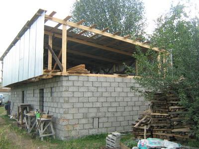 Крыша односкатная своими руками фото
